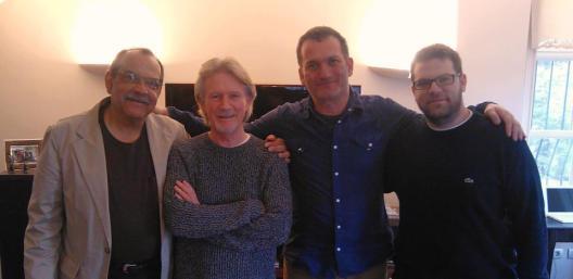 Ernie Watts, Alan Broadbent, Kerem Görsev ve ben